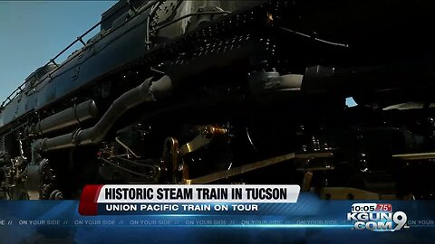 Historic 1940s steam train makes a stop in Tucson
