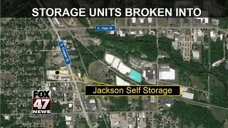 Police investigating storage unit break-ins
