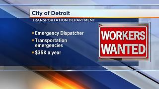 Workers Wanted: City of Detroit hiring - Video