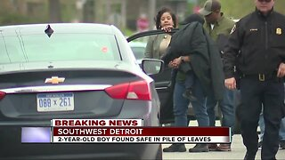 Missing 2-year-old boy found safe in pile of leaves