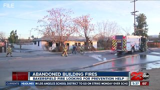 Fire officials working to prevent future abandoned building fires