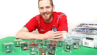Miniature heroes! Football fan painstakingly recreates iconic World Cup scenes using subbuteo figures  - Video