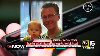 Grandparents of missing baby taken into custody at airport - Video