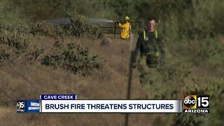 Brush fire breaks out in Cave Creek - Video