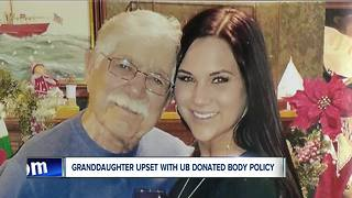 Woman upset with UB's body donation policy - Video