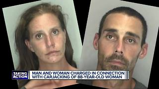 Couple charged in carjacking of 88-year-old Livonia woman at Walmart parking lot