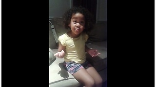 Adorable Girl Tries To Explain Why Her Tears Won't Stop Coming Out - Video