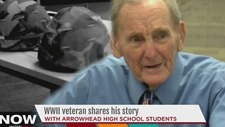 Local sudents help preserve WWII veteran's story - Video
