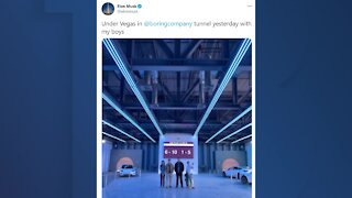 Elon Musk tweets from Boring Company tunnel