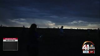 Eclipse 2017 totality in St. Joseph - Video