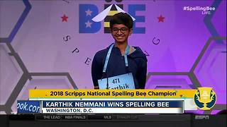 Spelling Bee winner - Video
