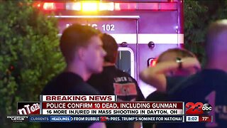 Police confirm 10 dead and 16 injured in Dayton Ohio mass shooting