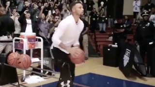 Steph Curry Goes 23-for-25 in Basketball Camp 3-Point Shootout - Video