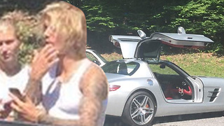 Justin Bieber & Hailey Baldwin TOO CUTE After Car Breaks DOWN! - Video