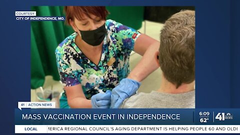Mass vaccination event in Independence