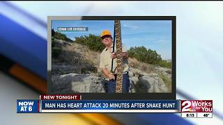 Man has heart attack 20 minutes after snake hunt - Video