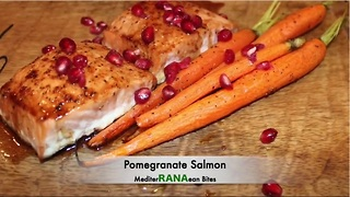 Healthy pomegranate salmon recipe  - Video