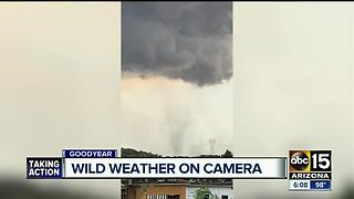 Rain, wind and dust hitting the Valley - Video