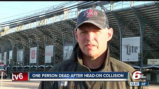 Driver killed in head-on collision Wednesday morning outside the main gate at the Indianapolis Motor Speedway - Video