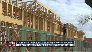 Construction bosses recruit high school students to fill vacancies - Video