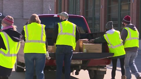 Help for the Homeless Drive at Lambeau collecting hygiene items for those in need
