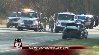 2 on motorcycle dead after crash in southwestern Michigan - Video