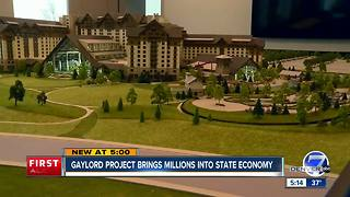 Gaylord project brings millions into state economy - Video