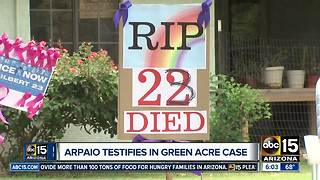Former Sheriff Joe Arpaio testifies in Green Acres case - Video