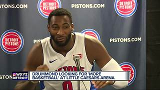 Andre Drummond disappointed Little Caesars Arena isn't more welcoming to Pistons - Video