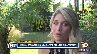 Woman recovering after parasailing accident