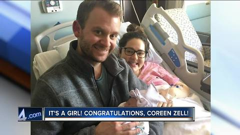 Congrats to reporter Coreen Zell on the birth of her baby girl