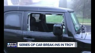 Series of car break-ins in Troy - Video