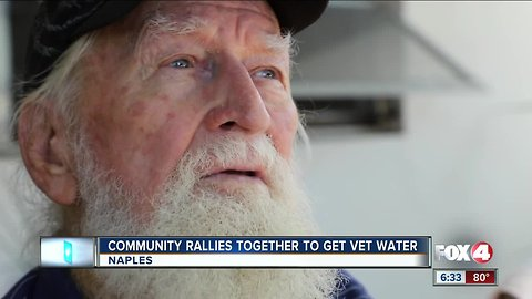 84 year old veteran get water turned back on