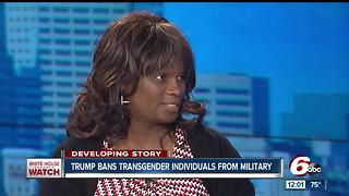 Transgender veteran talks about President Trump's new ban - Video
