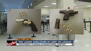 Two loaded guns found in carry-on bags at RSW - Video
