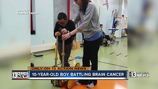 10-year-old Las Vegas boy battling brain cancer - Video