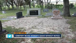 Cemetery moves woman's grave without notice - Video