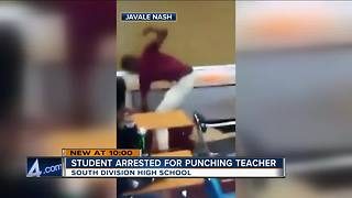 Milwaukee teen arrested for punching teacher - Video