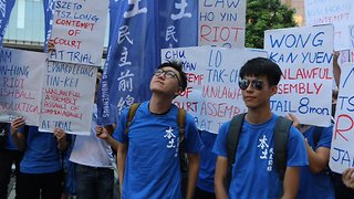 Thousands March in Hong Kong Against Sentencing of Pro-Democracy Activists - Video