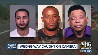 DPS identifies three wrong-way drivers arrested - Video
