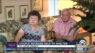 Grandparents helped out at hurricane shelter - Video