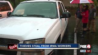 Thieves Steal From Hurricane Irma Workers