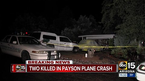 Officials identify two people killed in Payson plane crash