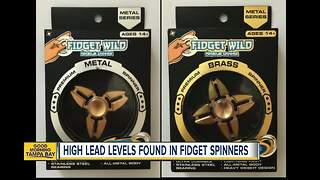 High levels of lead found in fidget spinners - Video