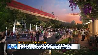 Council voting to override Mayor, eliminate special election funding - Video