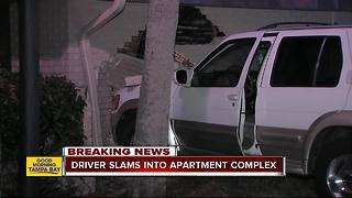 Eight residents displaced after SUV crashes into Tampa apartment complex - Video