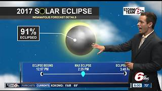 Solar eclipse forecast in Indy - Video