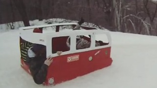 Custom made VW Wagon Sled! - Video
