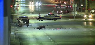 Las Vegas police investigate hit-and-run crash overnight