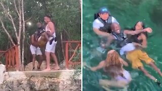 Paralyzed man finds courage to go cliff diving